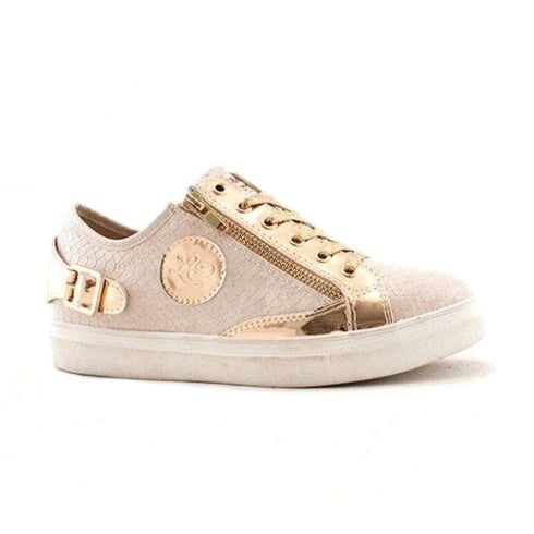 Lloyde & Pryce - Tommy Bowe Lloyd & Pryce Womens Craddock Metallic Nude Gold Sneakers