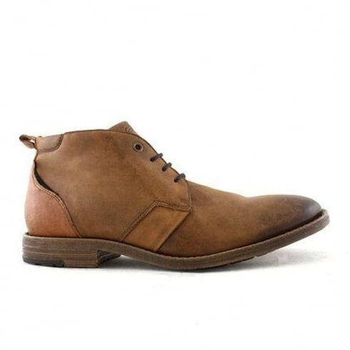 Lloyde & Pryce - Tommy Bowe Lloyd & Pryce Mens O'Mahony Smart Camel Leather Lace Up Boots