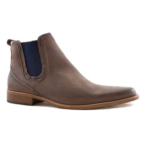Escape Shoes Escape Mens Austin Charcoal Leather Chelsea Boots