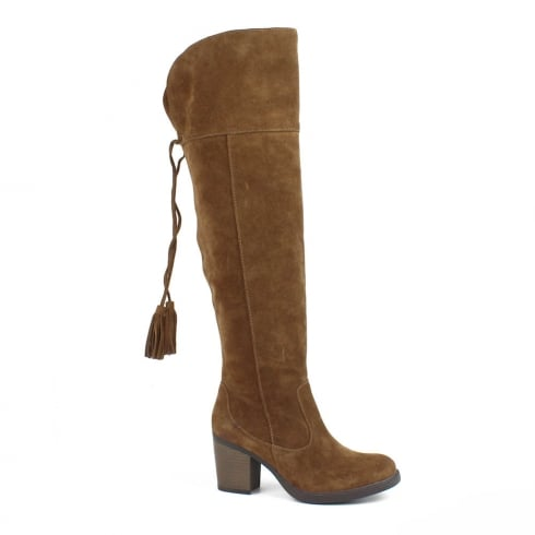 Carmela Camel Suede Leather Knee High Boot