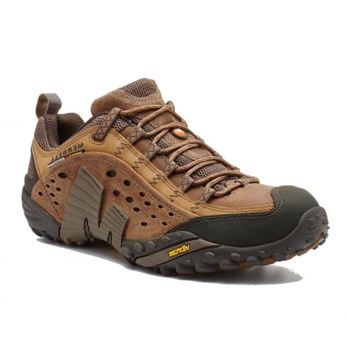 Merrell Mens Intercept Brown Low-Cut Hiking Shoes