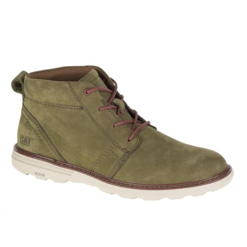 CAT Mens Trey Olive Nubuck Ankle Lace Up Desert Boot