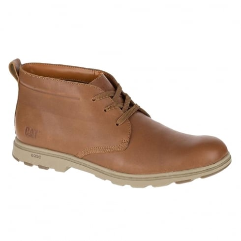 CAT Mens Landmark Tan Leather Casual Boots