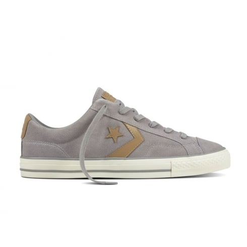 Converse Men's Star Player Ox Suede Low Top Trainers - Grey