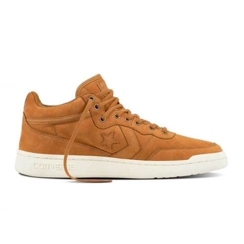 Converse Men's Fastbreak Mid Top Leather Shoes - Tan