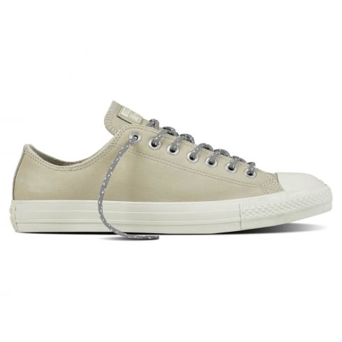 Converse Men's Chuck Taylor All Star Ox Leather Trainers - Beige