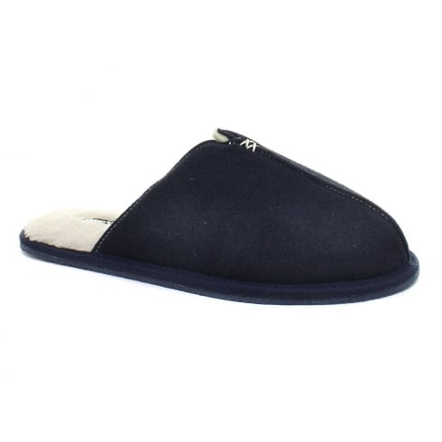 Dunlop Men's Amadieu Navy Suede Slippers