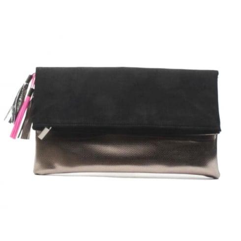 Glamour Black Pewter Fold Tassle Bag - ET718B