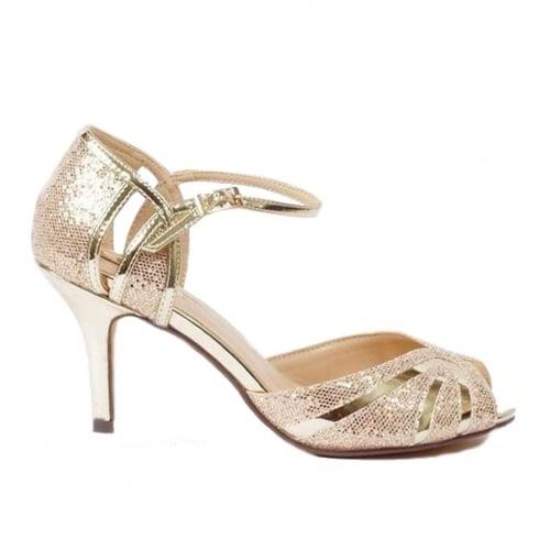 Glamour Gold Metallic Peep Toe Sandal - ET720