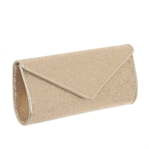 Glamour Gold Glitter Clutch Bag