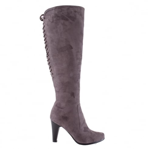 Susst Kia Grey Over Knee High Heeled Boots