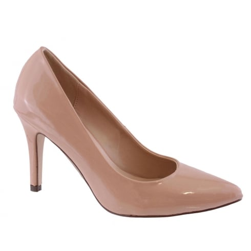 Susst Astrid Nude Patent Pointed Court Shoe