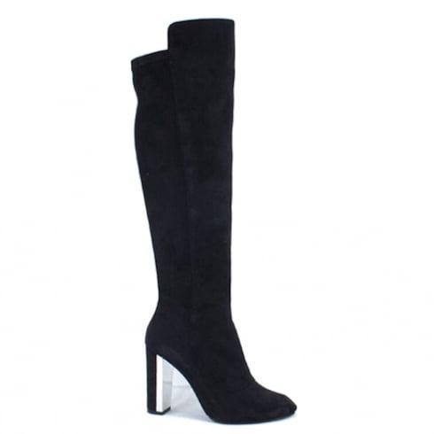 Kate Appleby Slough Black Suede Knee High High Heeled Boot