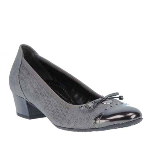 Gabor Comfort Shoes Grey Womens Low Heel Pumps