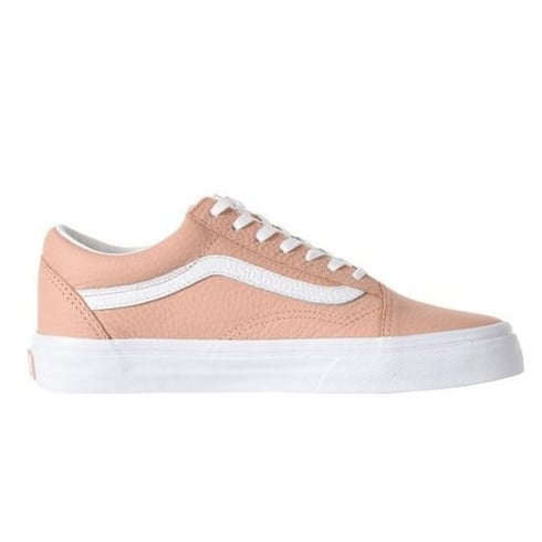 Vans Womens Old Skool Pink Leather Sneakers