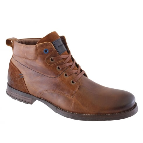 Morgan & Co Men's Tan Leather Lace up Boots