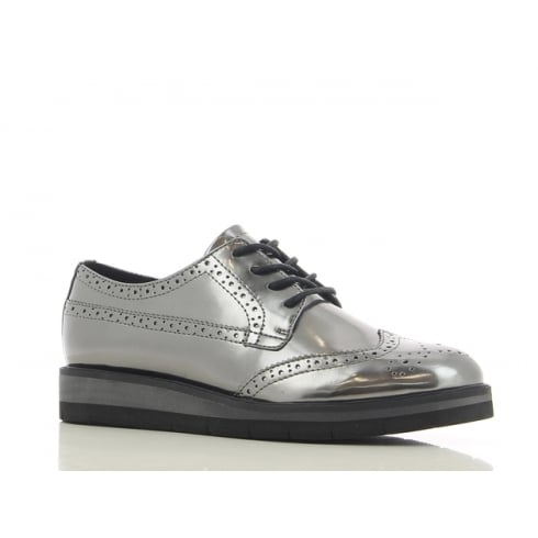 Sprox Ladies Pewter Metal Brogue Shoes