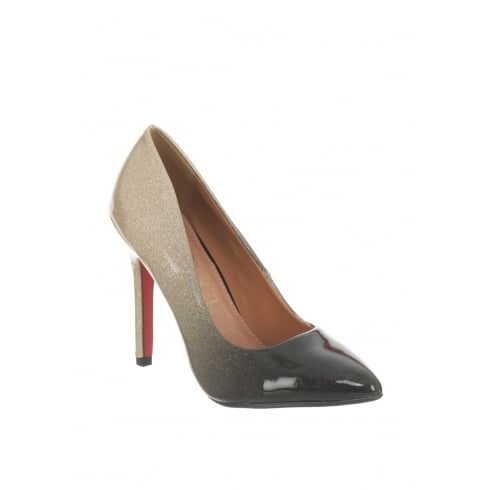 Kate Appleby Bodmin Nude/Black Ombre Patent Pointed High Heels