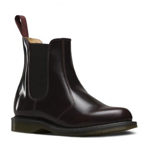 Dr. Martens Dr.Martens Womens Flora Cherry Red Slip On Chelsea Boots