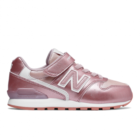 new balance girls 996 velcro pink rose leather sneakers