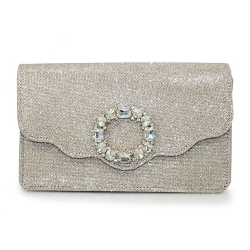 Lunar Hallie ZLR481 Gold Clutch Bag
