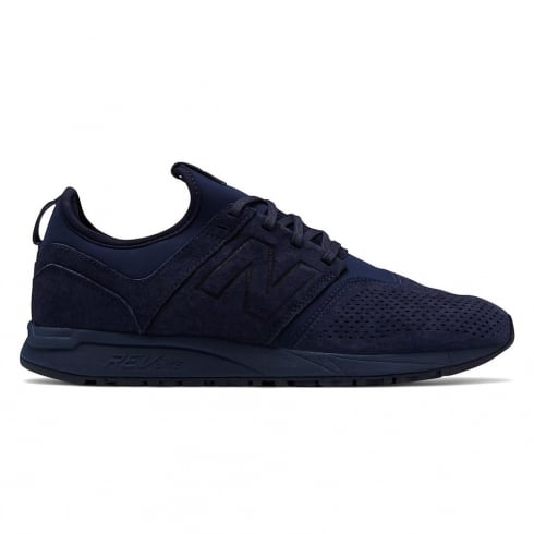 New Balance Suede 247 Navy Mono Sneakers