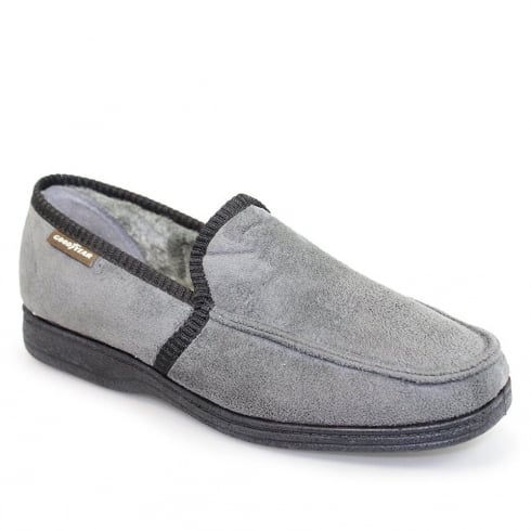 Lunar Goodyear Mens Eden Memory Foam Grey Slipper KMG111
