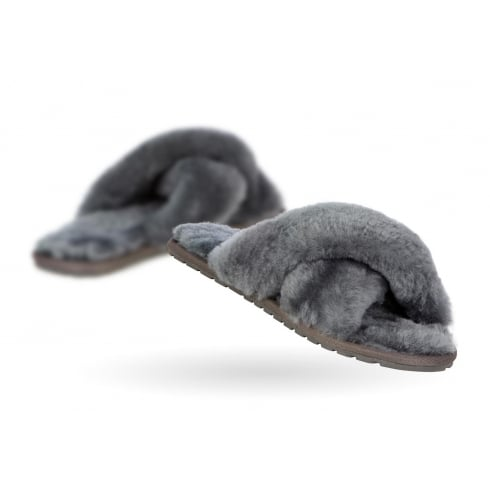 Emu Australia EMU Mayberry - Charcoal Grey Slider Slippers
