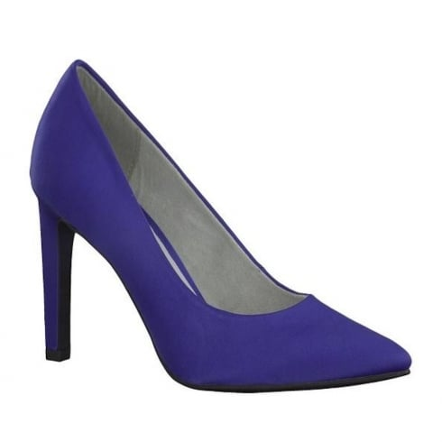 Marco Tozzi Royal Blue Classic Stiletto Pointed Courts