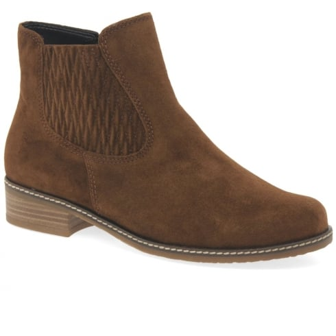 Gabor Pescara Chelsea Tan Suede Ankle Boots
