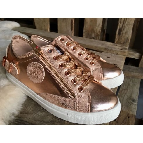 Lloyde & Pryce - Tommy Bowe Lloyd & Pryce Womens Craddock Rose Gold Sneakers