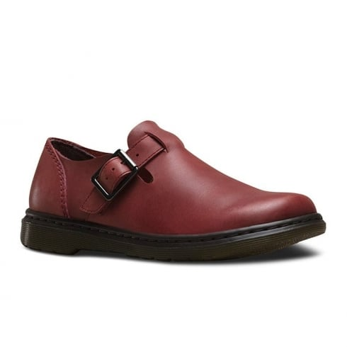 Dr. Martens Dr Martens Womens Patricia Deep Red Polished Oily Illusion Shoes