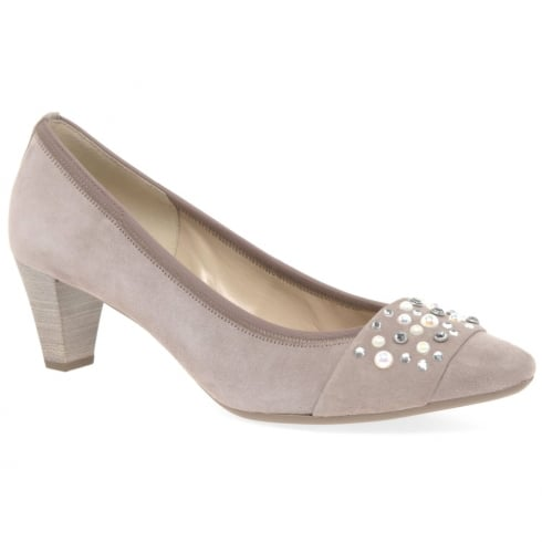 Gabor Guide Nude Ladies Dress Court Shoes 85.145
