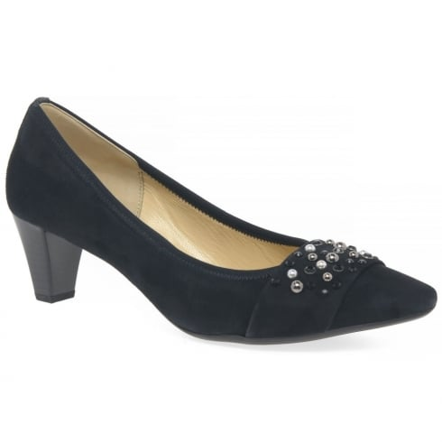 Gabor Guide Navy Ladies Dress Court Shoes 85.145