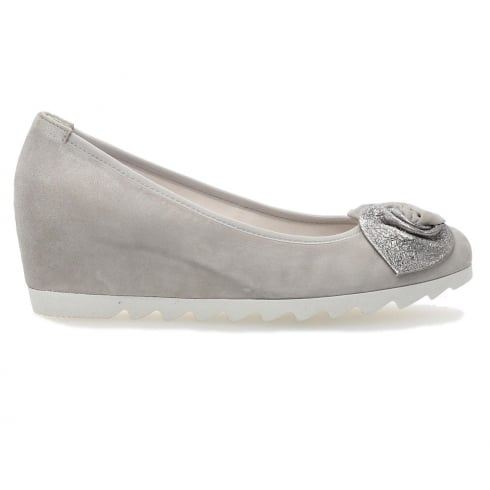 Gabor Latimer Wedge Shoes- Stone