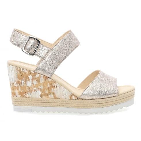 Gabor Wicket Ladies Pale Rose Wedge Heel Sandals