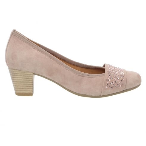 Gabor Wallace Suede Mid Heel Court Shoes