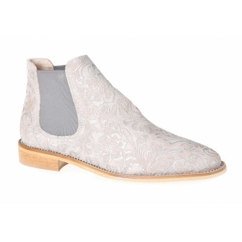 Nicola Sexton 3853 Beige Floral Chelsea Boot