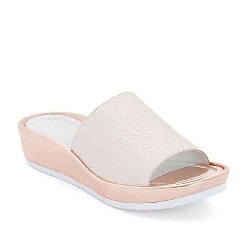 Ara Womens Rose Gold Slip On Sandals