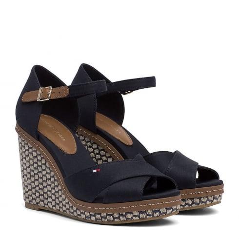 Tommy Hilfiger Elena Navy Wedge Heeled Sandals