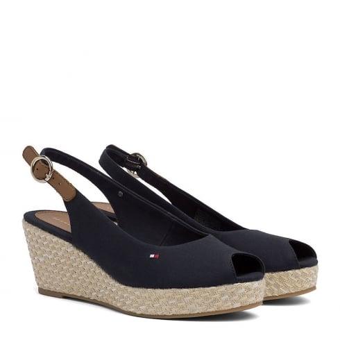 Tommy Hilfiger Elba Slingback Navy Espadrille Sandals