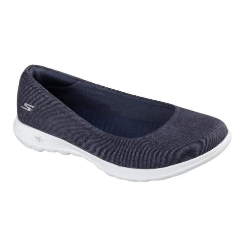 Skechers Womens GOwalk Lite In Bloom Denim Slip On Trainers