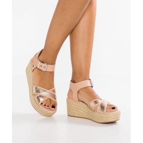 Tommy Hilfiger Rose Gold Metallic Flatform Sandal