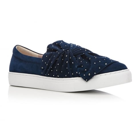 Moda In Pelle Alandi Navy Suede Slip On