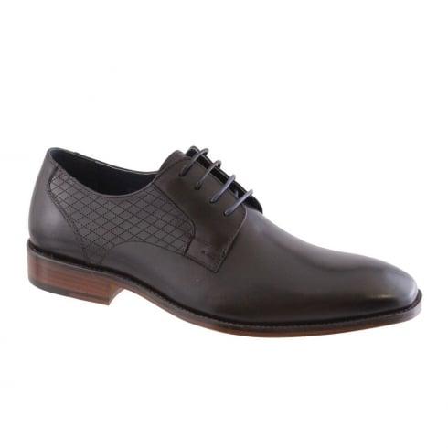 Morgan & Co Men's Black Leather Lace Up Dress Shoe