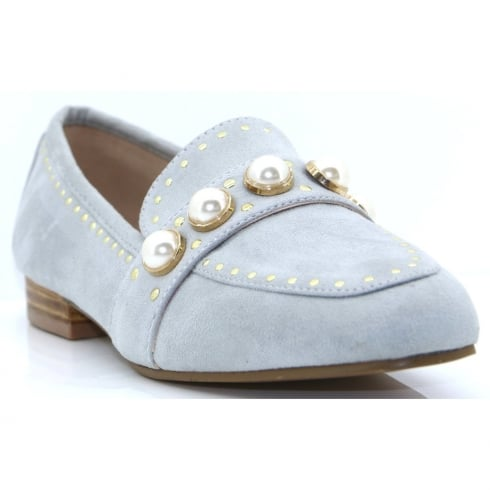 Escape Shoes Escape Ladies Vardo Grey Pearl Loafer Shoe