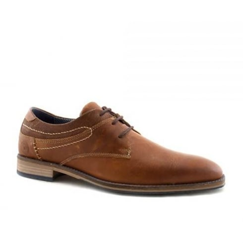 Escape Mans Hollyfield Caramel Leather Dressy Lace Up Shoe
