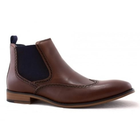 Escape Mans Norton Caramel Leather Pull On Chelsea Boots
