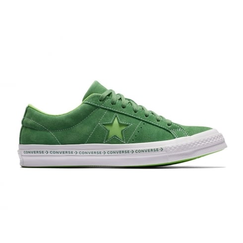 Converse Unisex One Star Pinstripe Green Mint Suede Trainers