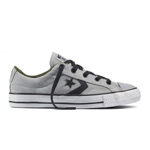 Converse Mens Star Player Camo Suede Grey/Black Trainers